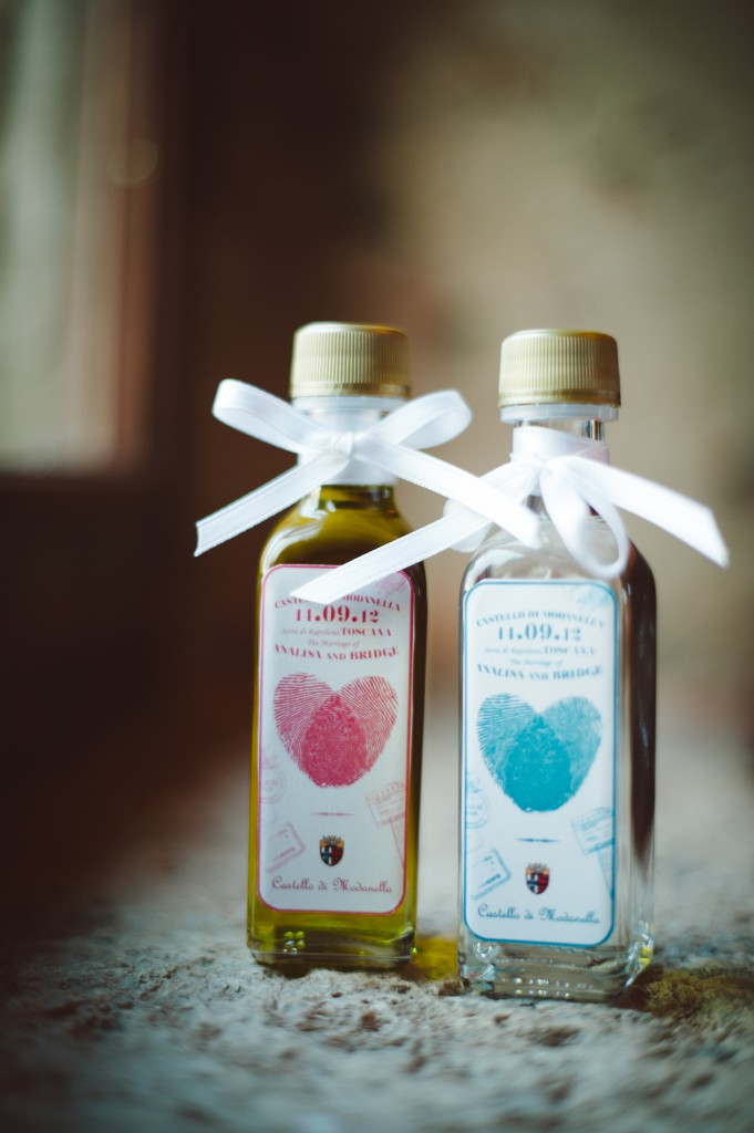Olive Oil and Grappa bottles