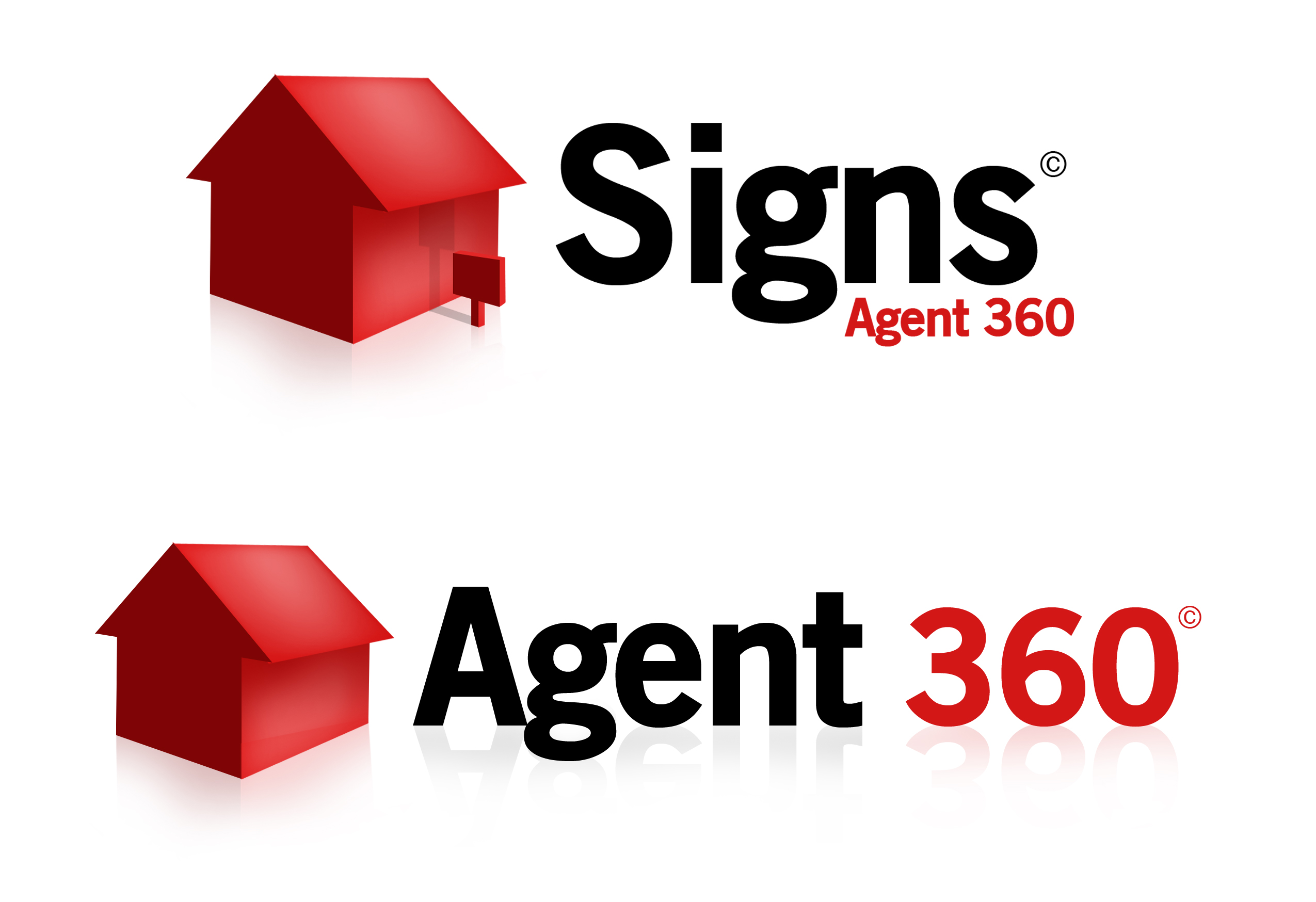 """Signs"" and ""Agent 360"" logo treatments"
