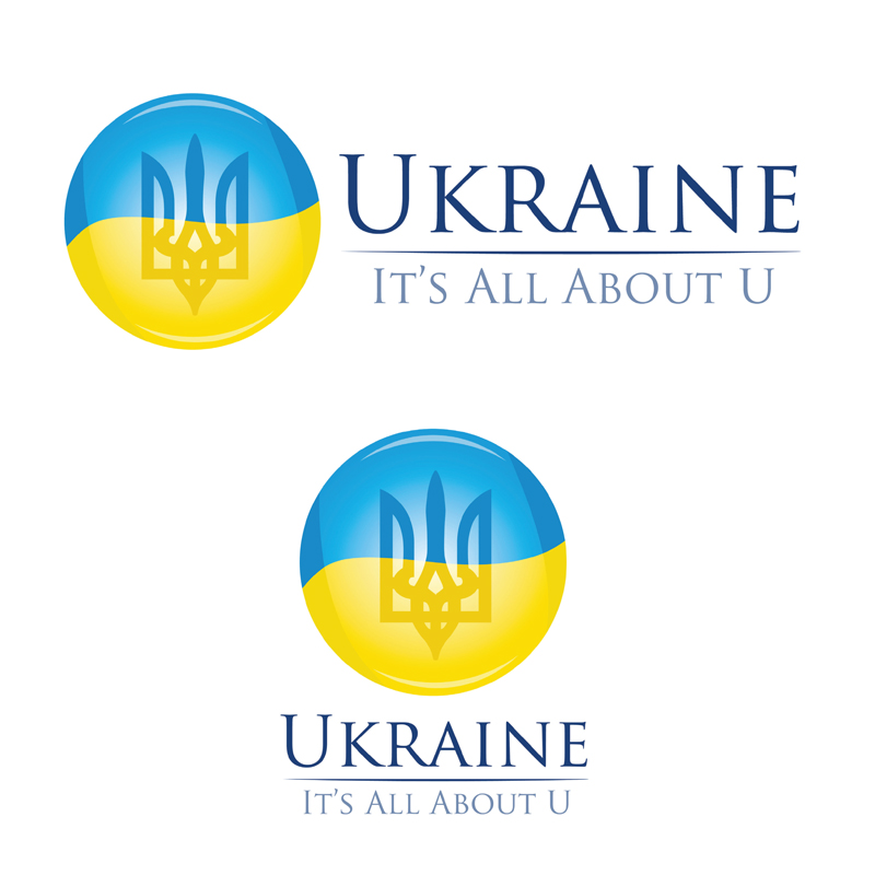 """""""Ukraine - It's All About You"""" logo study"""