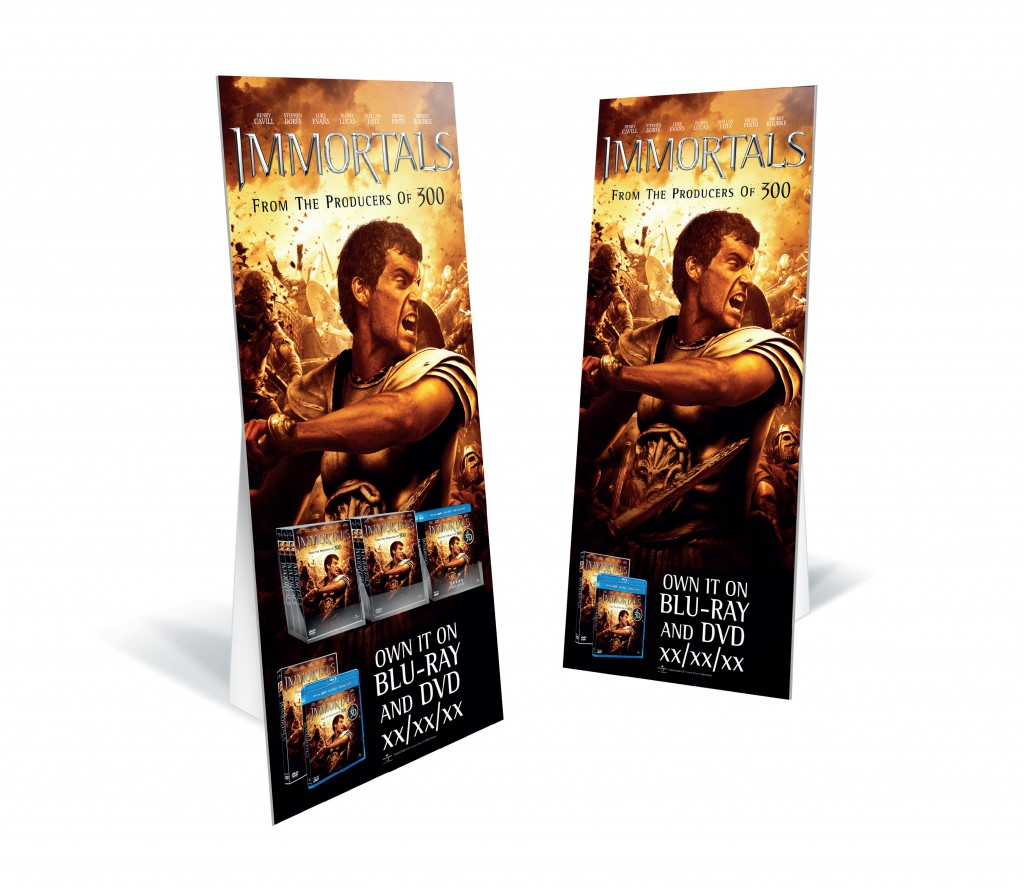 """Immortals"" standee/stockee"