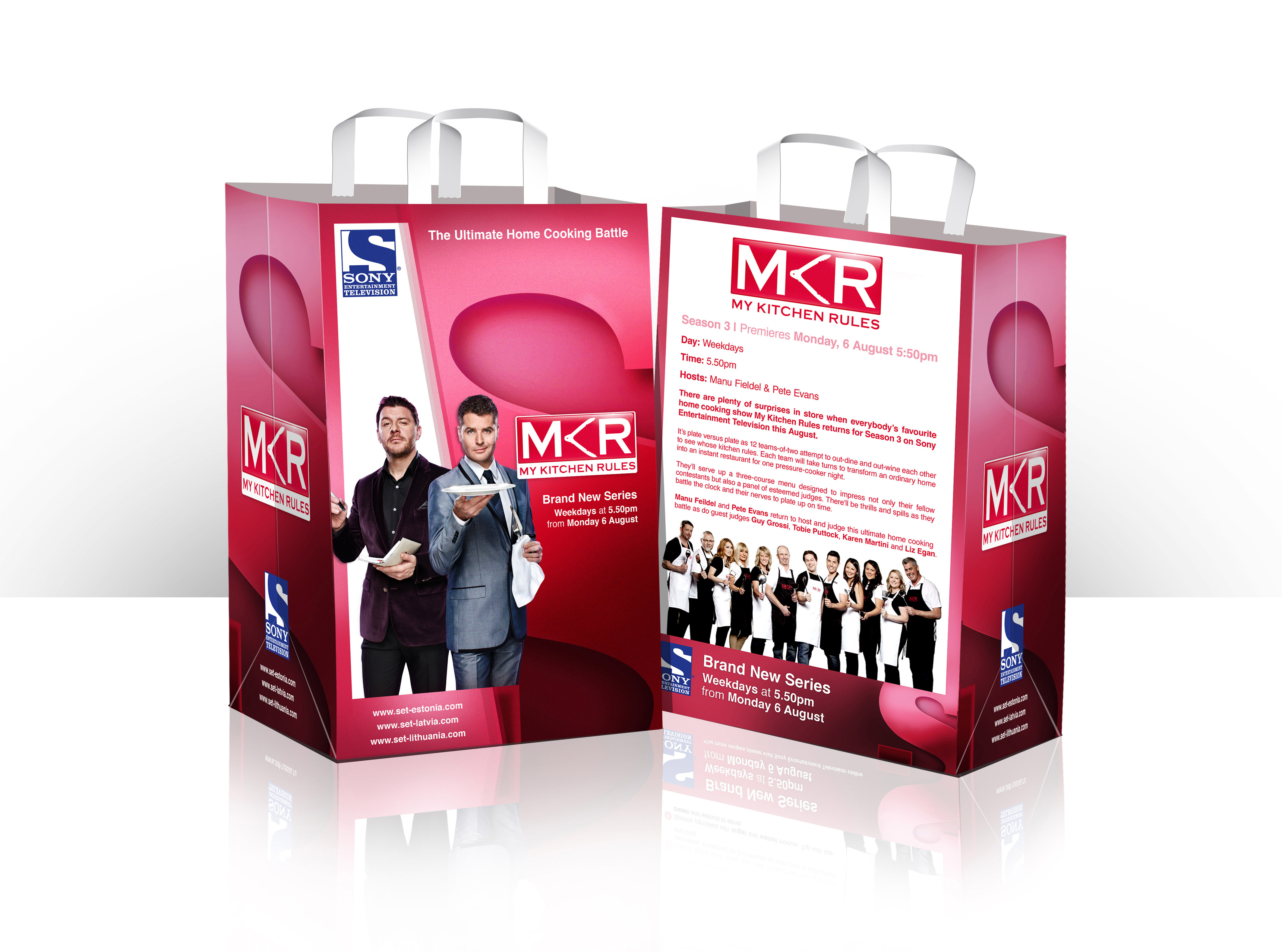 """""""My Kitchen Rules"""" campaign - DVD and promotional material creative"""