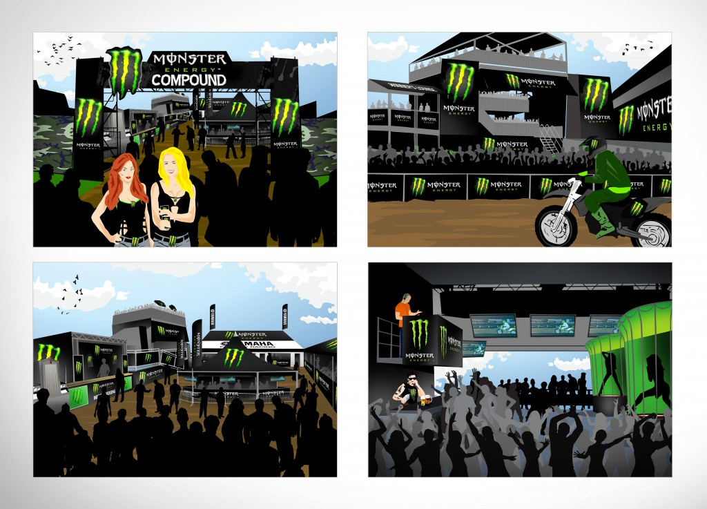 Monster Energy Compound visuals