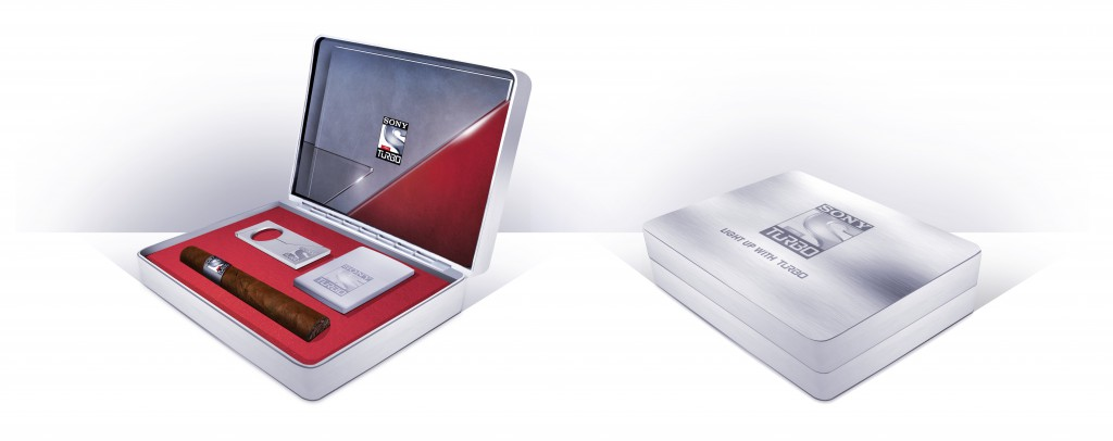 Sony Turbo launch cigar box
