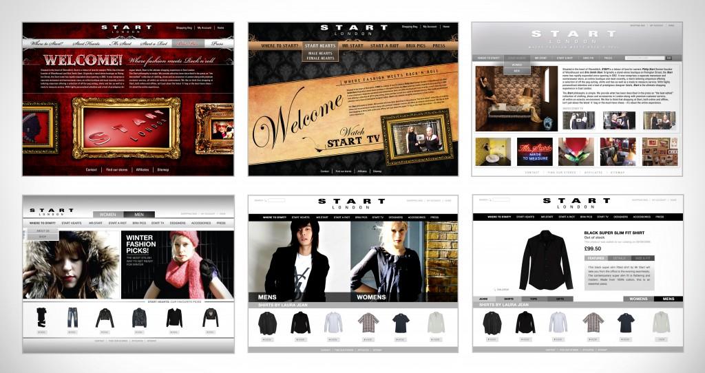 Start web visuals