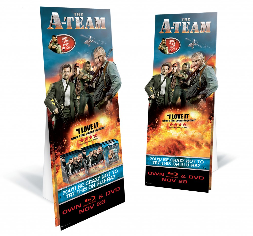 """""""The A-Team"""" Standee/Stockee"""