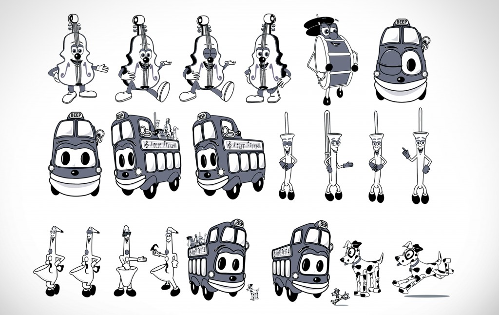 """Wheels on the Bus"" illustrations for merchandising"
