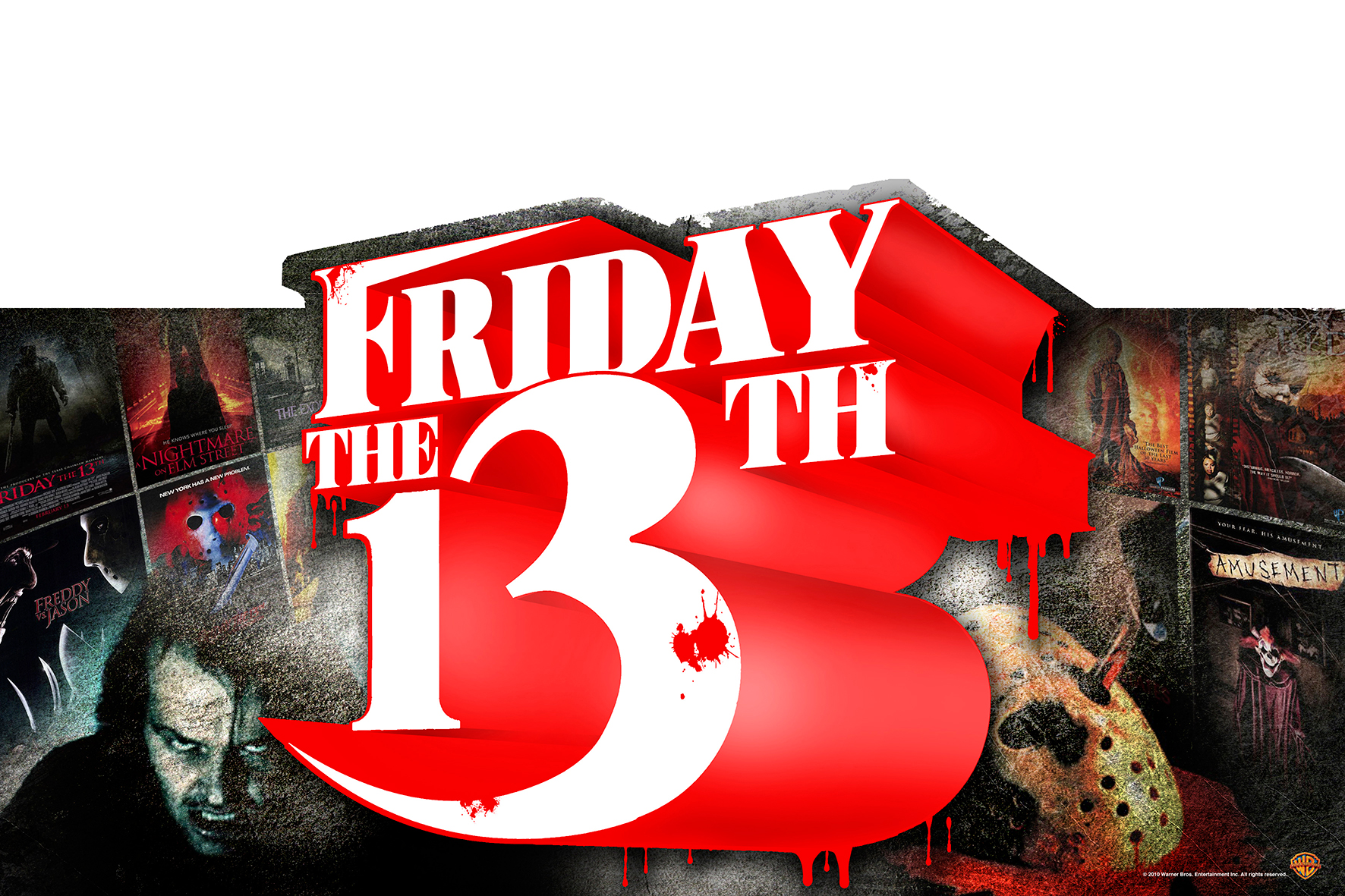 """Friday the 13th"" title and header treatments."