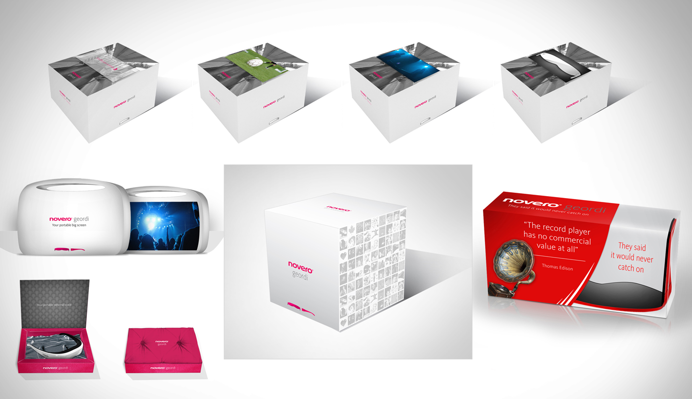 Novero Geordi packaging designs